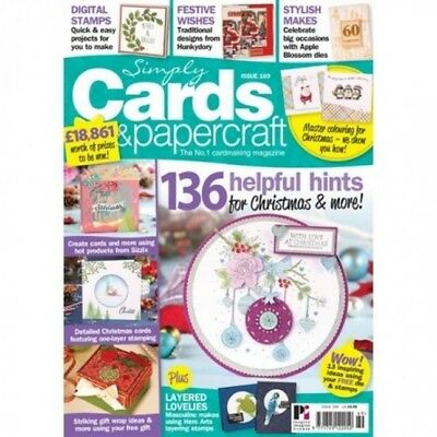 Simply Cards & Papercraft Magazine Issue 169 With Free Hunkydory Die & Stamp Set