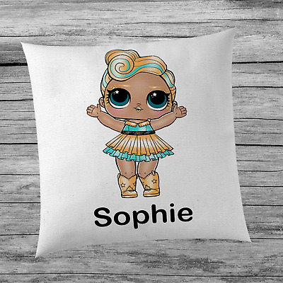 LOL Surprise Doll Luxe Inspired Cute Girl's Personalised Name Cushion Cover Kids