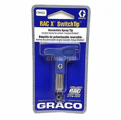 Graco Rac X SwitchTip  LTX413 Latex Paint Spray Tip 413