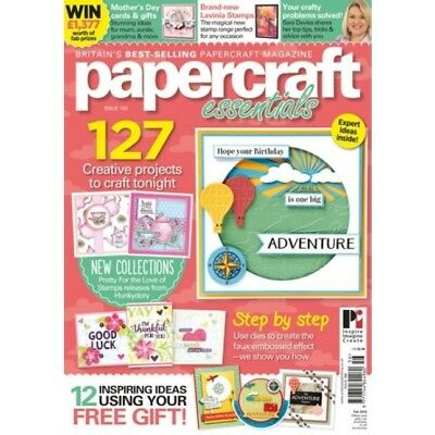 Papercraft Essentials Magazine Issue 156 With Free Scenescape Folder & Stamp Set
