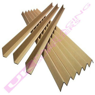 25 LARGE 50mm PROFILE CARDBOARD PALLET EDGE GUARDS PROTECTORS 1.2 METRES LONG