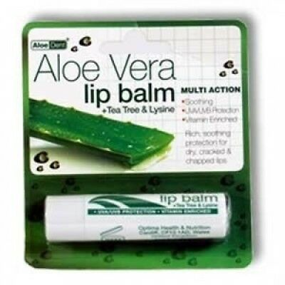 Aloe Vera Lip Balm With Tea Tree & Lysine 4g. Optima. Best Price