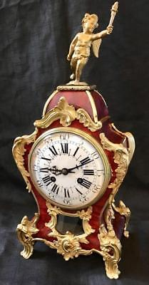 Antique boulle clock signed TIFFANY & CO French bombe ormolu month running
