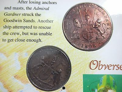 Rare Near Uncirculated 1808  XX & X CASH British East India Trading Co. 20 & 10