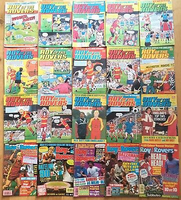 Roy of the Rovers 1980s 1990s Job Lot 32 Issues 1982 1983 1984 1990 1992