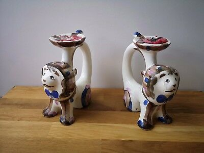Antique Russian porcelain Candle-holders by Konakovo (ZiK)