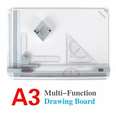 A3 Drawing Board Table Top Architects Technical Design Box Set 2 Magnetic Bar UK