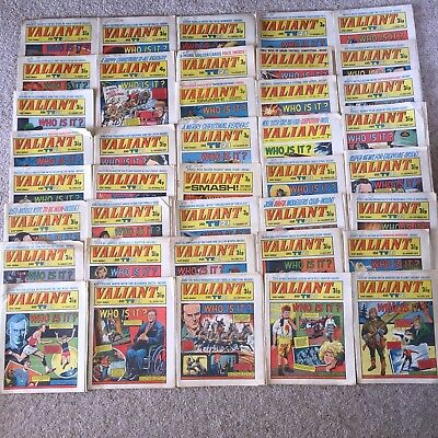 42 Of The Valiant And TV 21 Comics Early 1970s