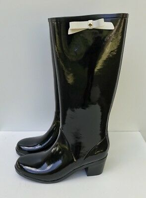 8403a7ae6738 Kate Spade New York Women s Raylan Rain Boot Black Bow Size 10 NEW!