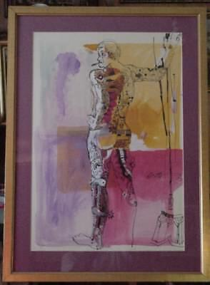 Original 1973 Signed Watercolor By Sam Scott