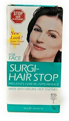Surgi-Hair Stop Prevents Face Hair Re-appearance - Natural Fruit Enzymes