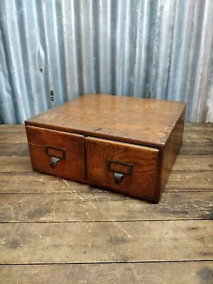 vintage antique wooden filing draw display decor