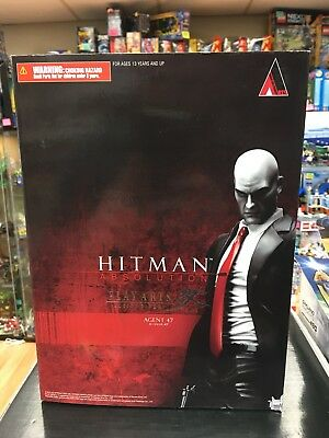 Play Arts Kai Hitman Absolution Agent 47 PVC Action Figure New In Box