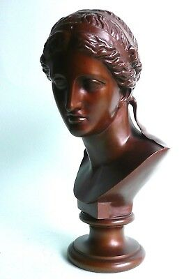 Antique Bronze Classical Grecian Bust by F Barbedienne...................ref.750