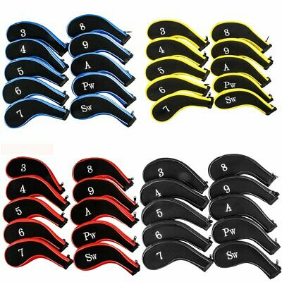 10PCS Neoprene Golf Club Headcovers Head Cover Protect Set choose colour