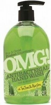 Omg Antibacterial Hand Wash Tea Tree And Aloe Vera 500ml 0604399