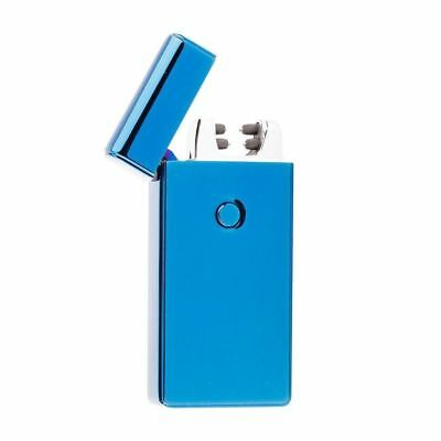 USB Electric Dual Arc Blue Metal Flameless Torch Rechargeable Windproof Lighter
