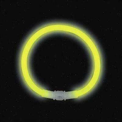 "8"" Yellow Premium Glow Bracelets (50/tube or 1000/case)"