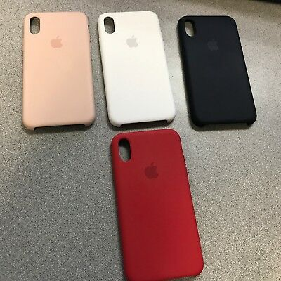 d169df53d98ea New Oem Apple Silicone Case For Iphone X. White Black Red Soft Pink Blue
