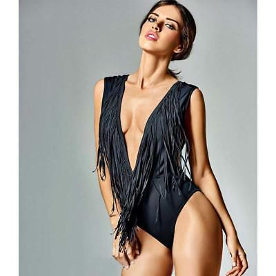 Swimwear Tassels One Piece Monokini Women Bathing Suit Beach