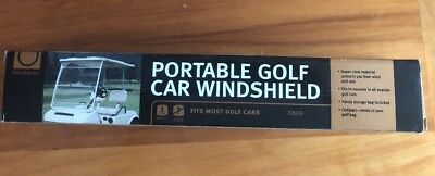 Portable Golf Car Windshield  Fits most Golf Cars by Fairway #72033 NEW in Box