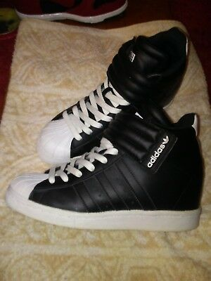 detailed look 700c9 6e5c7 Womens Black  White Wedge Adidas Up High Top Sneakers Velcro ...