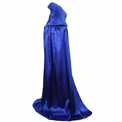 Txian Extra Long Hooded Satin Cloak, Halloween Christmas Fancy Cape for Adults -