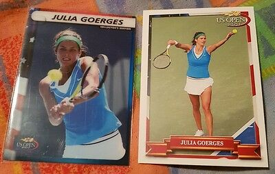 Julia GOERGES 2-cards LOT 2011 US Open Collector's Edition #04/12 Pro Net #01/10