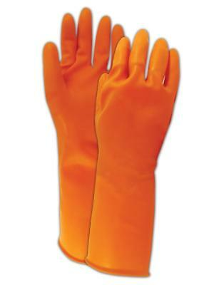 North AK1815O Chemical Resistant 18 Mil Unlined Gloves Size 9, 100 Pair