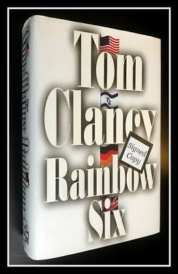 AUTOGRAPHED Hand SIGNED Rainbow Six by Tom Clancy 1st Ed COA Black Ink Free Ship