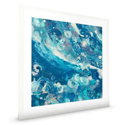 Water IV by Albena Hristova Abstract with White Frame ready to hang