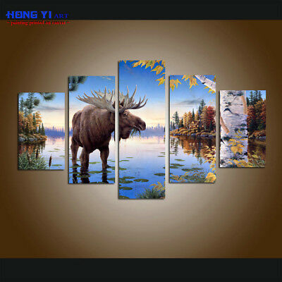 DEER WINTER Animals Canvas Wall Art Picture Large Sizes  AN127 MATAGA .