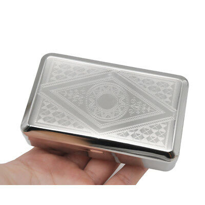 1 X Pocket Tin Metal Tobacco Storage Box Cigarettes Case with 70MM Papers Holder