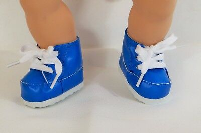"""Sneakers Blue for 15"""" Bitty Baby Twin or 18"""" Boy AG Doll Accessories Clothes"""