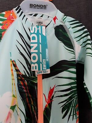 bonds New with tags swimwear size 0 long sleeve SUN PROTECTION