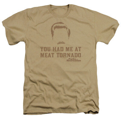 Parks & Recreation Ron Swanson Had Me at MEAT TORNADO Heather T-Shirt All Sizes