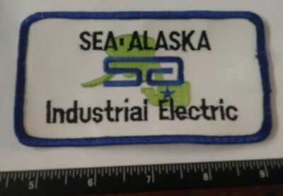 Vintage SEA-ALASKA INDUSTRIAL ELECTRIC Uniform Patch Rare AK