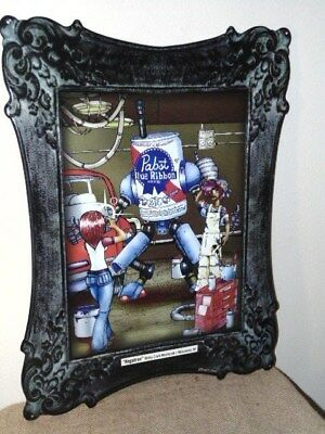 "PBR PABST BLUE RIBBON Art 2012 ~ Kegatron Robot ~ Beer Tacker Sign 17.5"" X 23"""