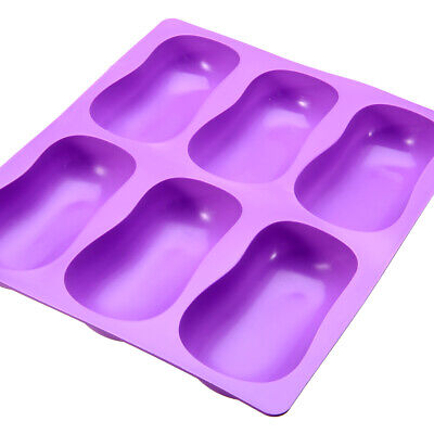 DIY 3D Oval Cake Mold Soap Jelly Chocolate Ice Silicone Mould Tray Baking Craft