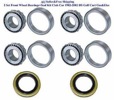 2 Set Front Wheel Bearings+Seal Kit Club Car 1982-2002 DS Golf Cart Gas&Elec AU