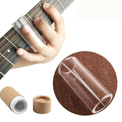 Mr.Power Acoustic Electric Guitar Slide Glass Heavy wall Finger Tube Clear New