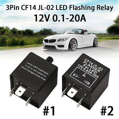 Flasher Relay Auto Relay Durable 3Pin 12V 150W Fix Turn Signal Hyper Flash