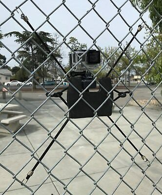 Action Camera (GoPro) Backstop Chain Link Fence Mount