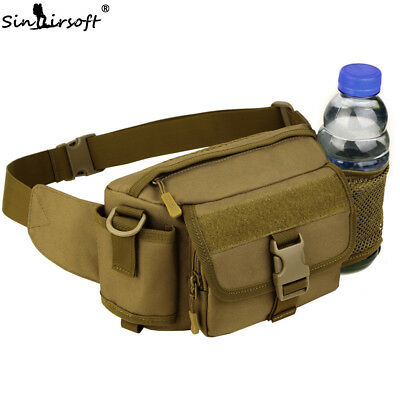 Tactical Molle Fanny Pack Waist Belt Bag Bum Pouch Water Bottle Men Sport Hiking