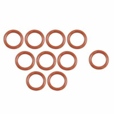 10 Pcs 16mm OD 2.5mm Thickness Silicone O Ring Oil Seals Gaskets Dark Red Q1L8