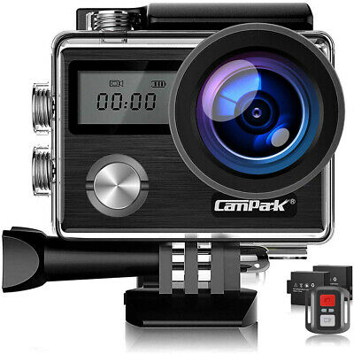 Campark Touch Screen Action Cam Sport Camera WiFi HD 4K 20MP Dual LCD Waterproof