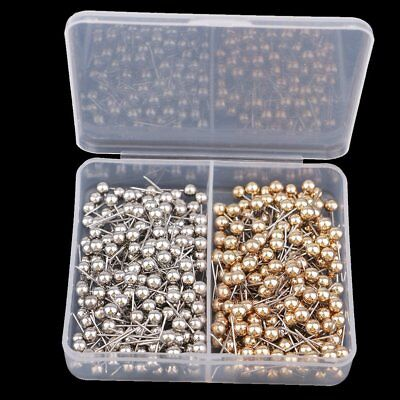 400Pcs Round Ball Head Silver & Gold Colors Pearl Hat Pin for Florist