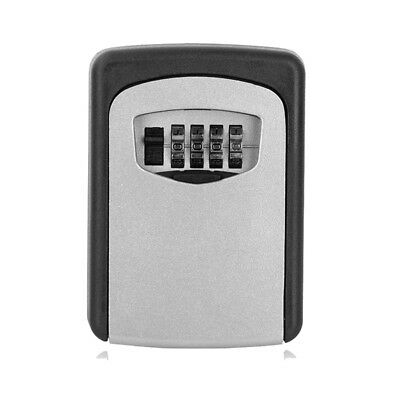 New Digit Wall Organizer Mount Box Safe Security Lock Case 4 Combination Key