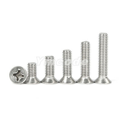 M5  Stainless Steel Phillips Cross Recessed Countersunk Flat Head Machine Screws