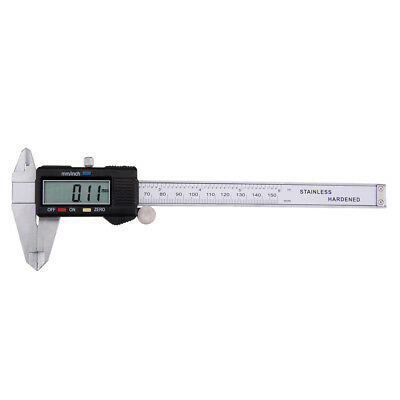 Digital Electronic Gauge Stainless Steel Vernier 6inch 150mm Caliper Micrometer